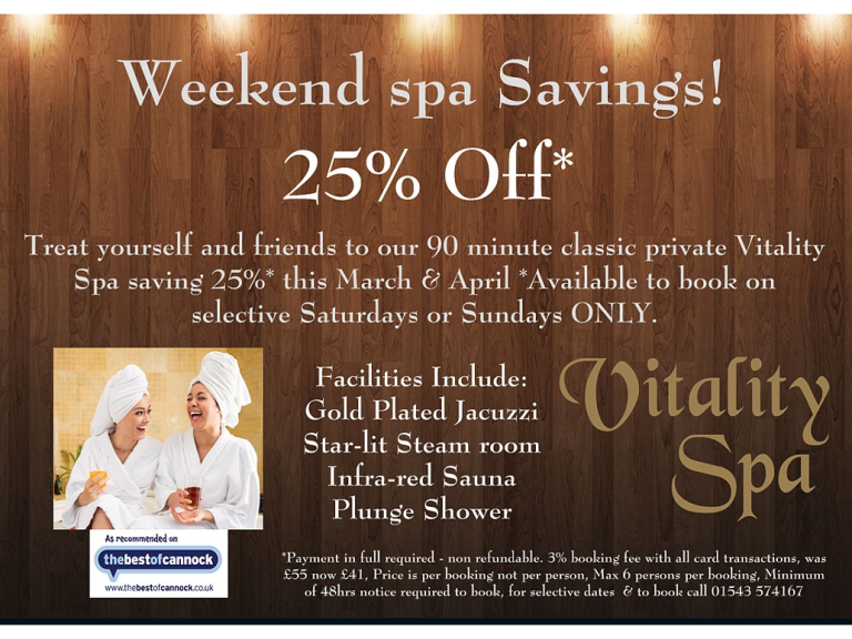 25% off Weekend Spa Special
