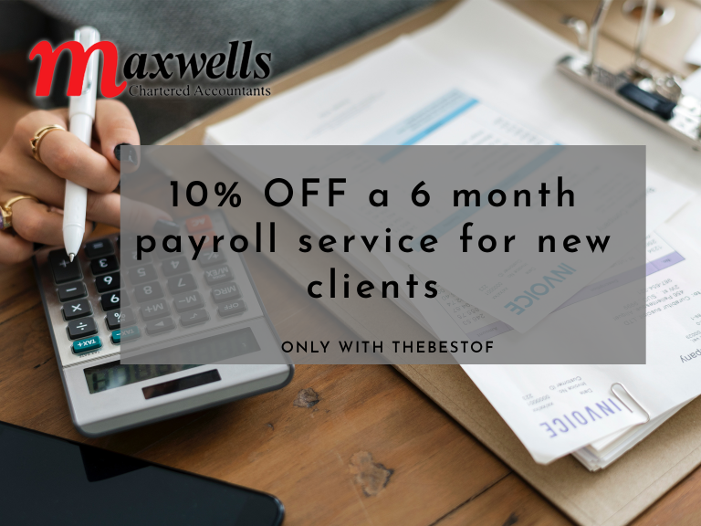 10% OFF a 6 month payroll service for new clients