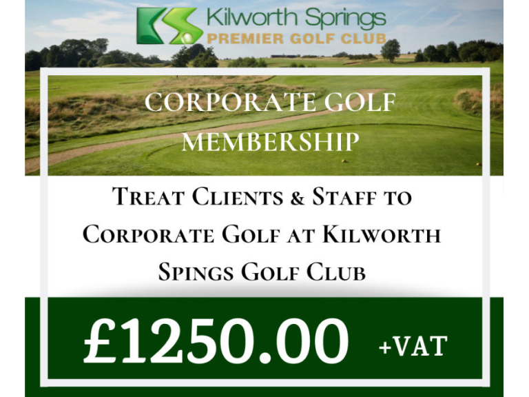 Corporate Golf Membership Offer at Kilworth Springs
