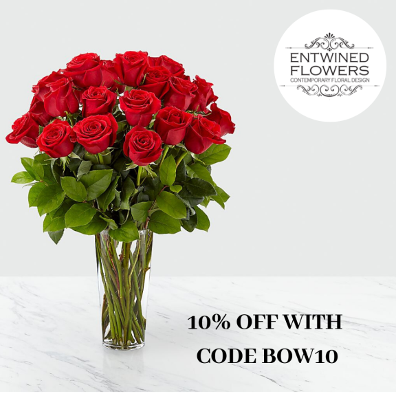 10% off Valentines Flowers at Entwined Flowers