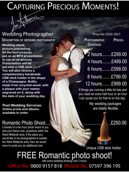 Wedding Photography from £299 at Jon Anthony Wedding Photographer