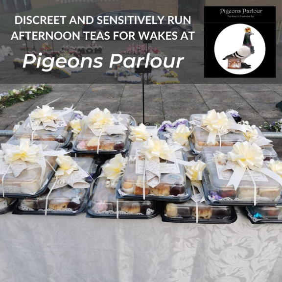 Afternoon Tea for Wakes at Pigeons Parlour