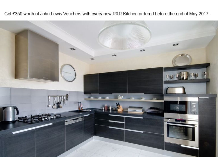 Get £350 of John Lewis Vouchers with your new R&R kitchen