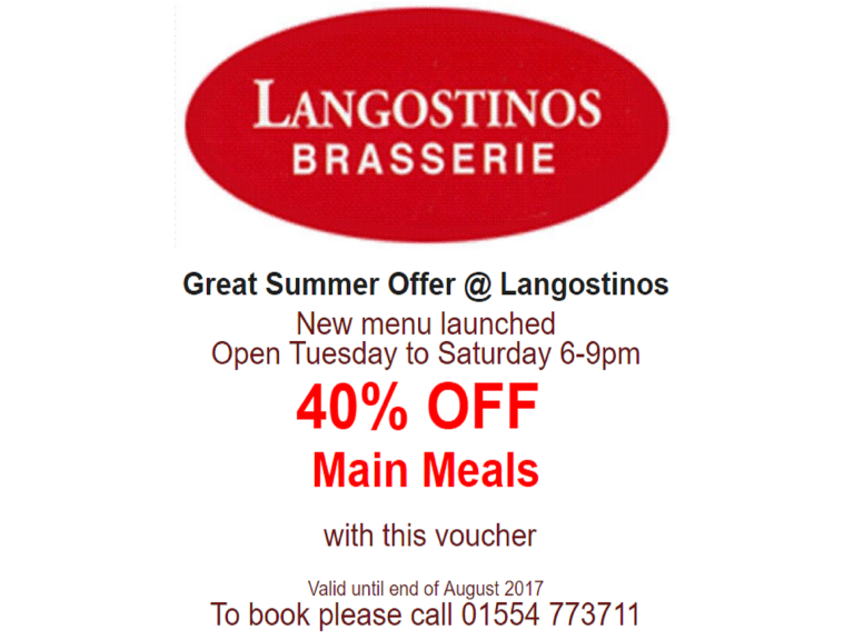 40% off Main Meals in August