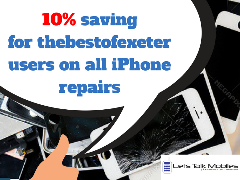 10% discount on all iPhone repairs