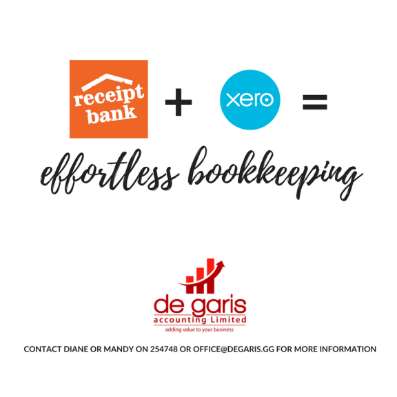 FREE RECEIPT BANK THREE MONTH TRIAL WITH DE GARIS ACCOUNTING
