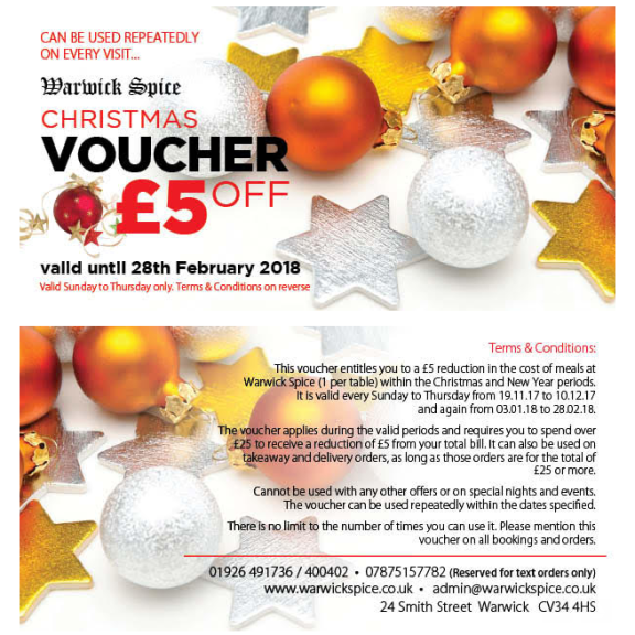 Christmas Voucher £5 Off!
