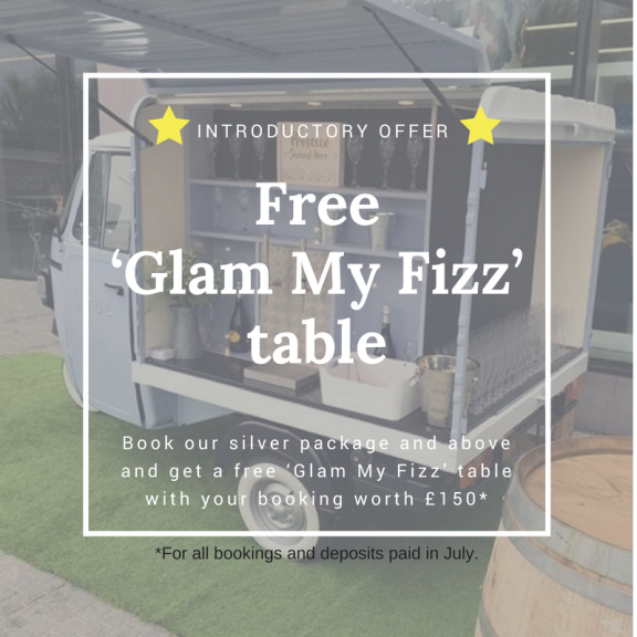 FREE Glam My Fizz Table worth £150
