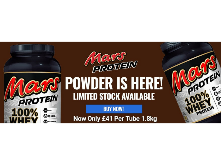 JULY DEAL! Mars Protein Powder only £41 per tub.
