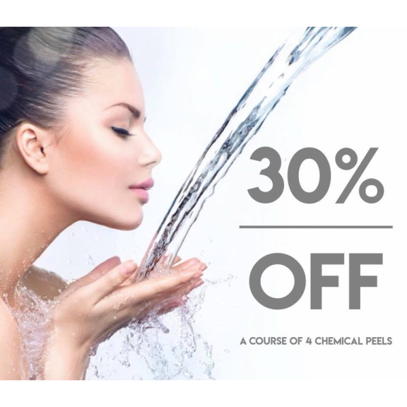 30% off a course of 4 chemical re-modelling peels!