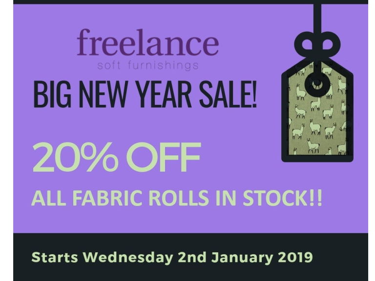 20% OFF ALL Fabric Rolls In Stock