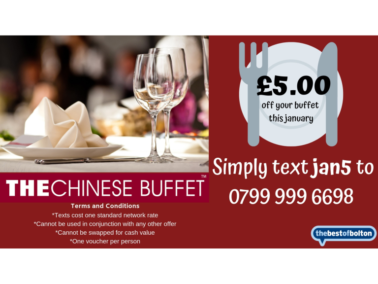 £5 off your buffet in January!