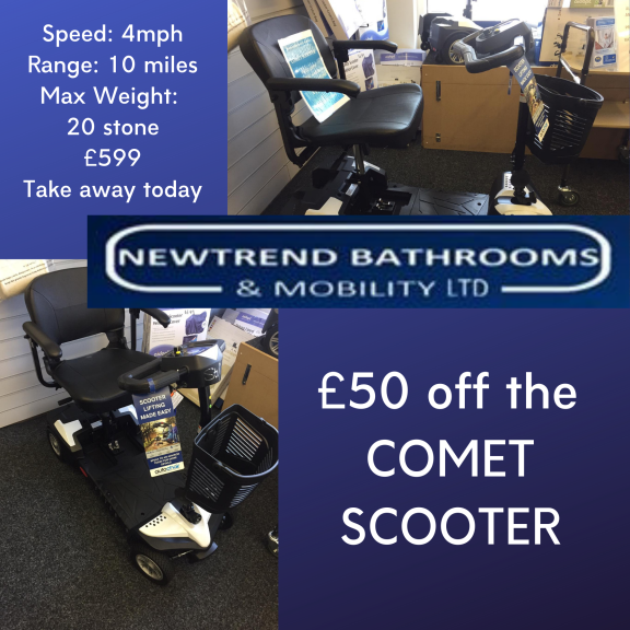 £50 off The Comet Mobility Scooters at Newtrend Bathrooms and Mobility Ltd