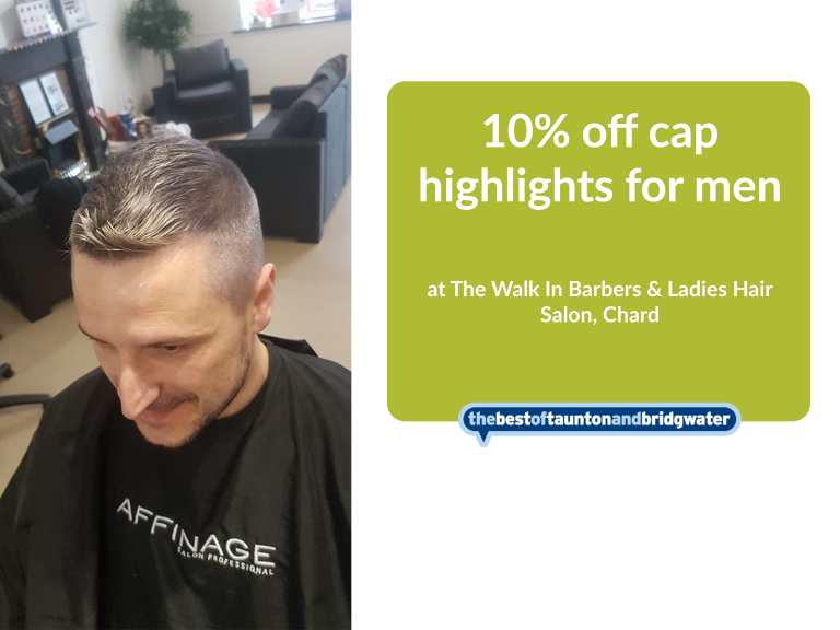 10% off cap highlights for men