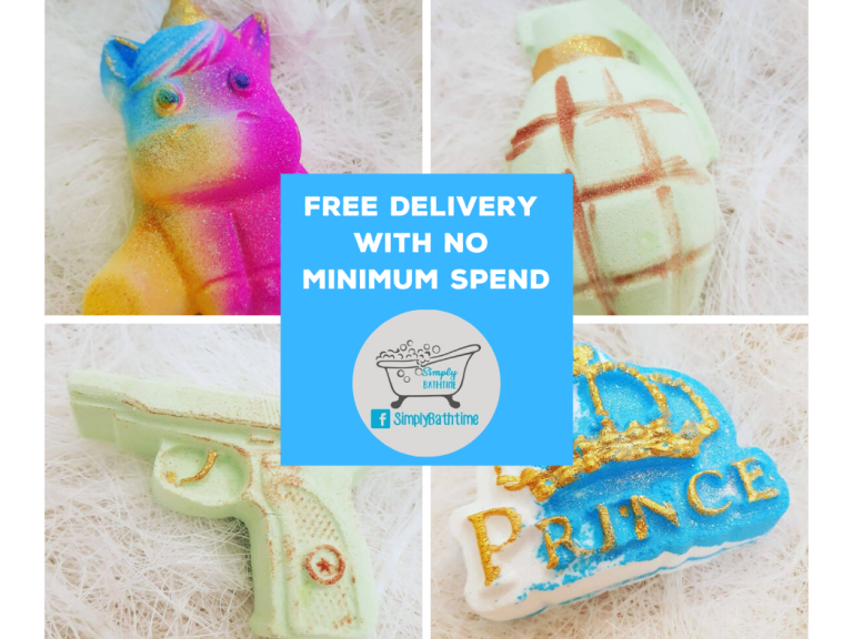 Bath Bombs 3 for £6.50 with FREE safe delivery at Simply Bathtime