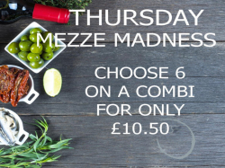 Thursday Mezze Madness at The Olive Lounge.