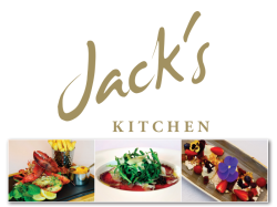 Set course and glass of Prosecco deal at Jack's Kitchen
