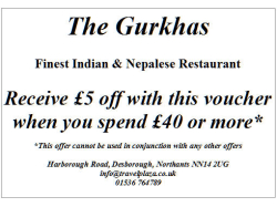 £5 off Voucher for The Gurkhas.