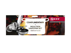 Complimentary Induction Saucepan Set