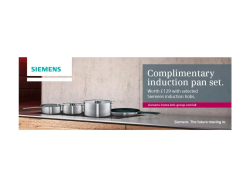 Complimentary Induction Pan Set from Siemens