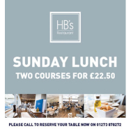 Sunday Lunch at the Amex Community Stadium - HB's Restaurant
