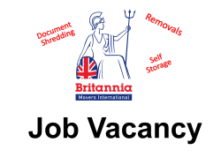 Job Vacancies at  Britannia Harrison and Rowley (Removals and Storage) St Neots