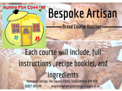 Bread Making Courses with Hunnypot Cottage Designs