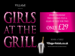 GIRLS AT THE GRILL - 2 COURSES AND FIZZ £29