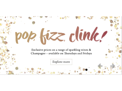 Special prices on Fizz at The Cowper Arms, Digswell on Thursdays and Fridays