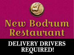 Delivery Driver Required - The New Bodrum