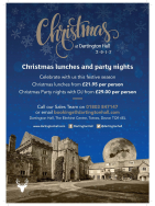 It's never too late to book your Christmas party at Dartington Hall