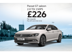Looking sleek and professional for business, the new Passat GT Saloon.