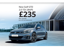 New Golf GTD 2.0 TDi at a smart price for business.