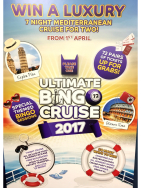 Win a 7 night Mediterranean Cruise with Gala Bingo.