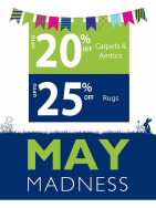 It's MAY MADNESS at Milners in Ashtead with great discounts on Carpets and Flooring