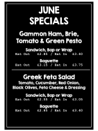 Hot Gammon Bap or Fresh Feta Salad? What to choose? Taste June Specials.