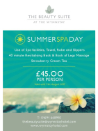 Summer Spa Day for just £45pp