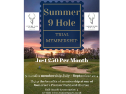 Summer 9 Hole Trial Membership