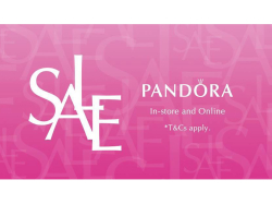 Pandora Sale at ES Jewellery