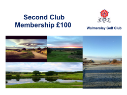 2ND GOLF MEMBERSHIP £100