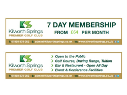 7 Day Golf Membership Offer at Kilworth Springs.