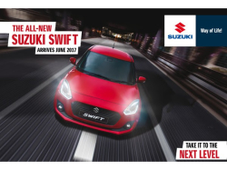 The A;; New Suzuki Swift