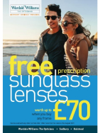 Free Prescription Sunglasses lenses worth £70 at Wardale Williams