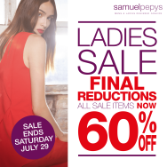 SAMUEL PEPYS SUMMER SALE