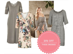 SUPER SUMMER SAVINGS ON THESE DRESSES WITH 25% OFF