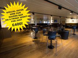 Hire the Ravens Bar on a Friday night for as little as £400!