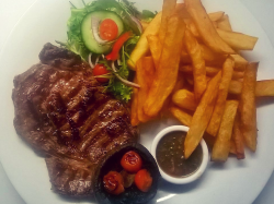 Two 16oz Rump Steaks for £30 on Tuesdays at Old Wood Farm Kitchen
