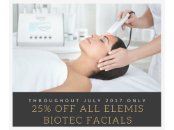 July Special - 25% off all signature Elemis Biotec Facials