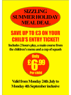 SAVE up to £3 on your child's entry to Adventureland this Summer!