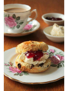 Clotted Cream Scone, Jam & Bottomless tea pot all for just £4 at Florabelle's